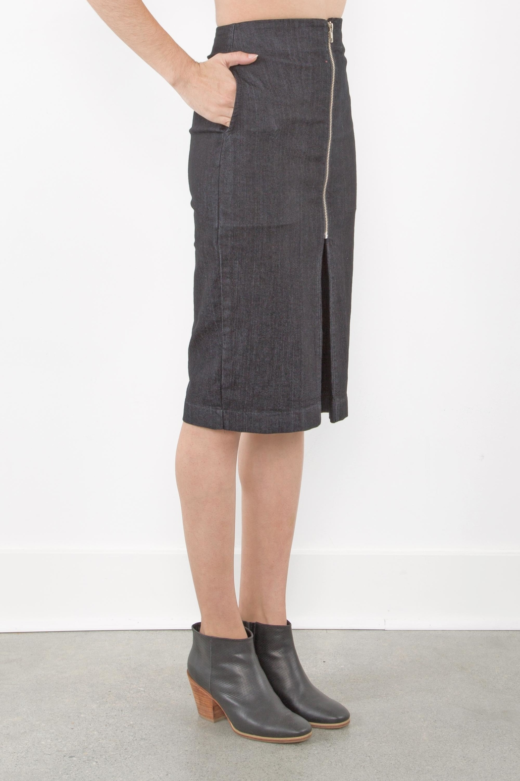 Prairie Underground Zip Pleat Skirt - Front Full Image