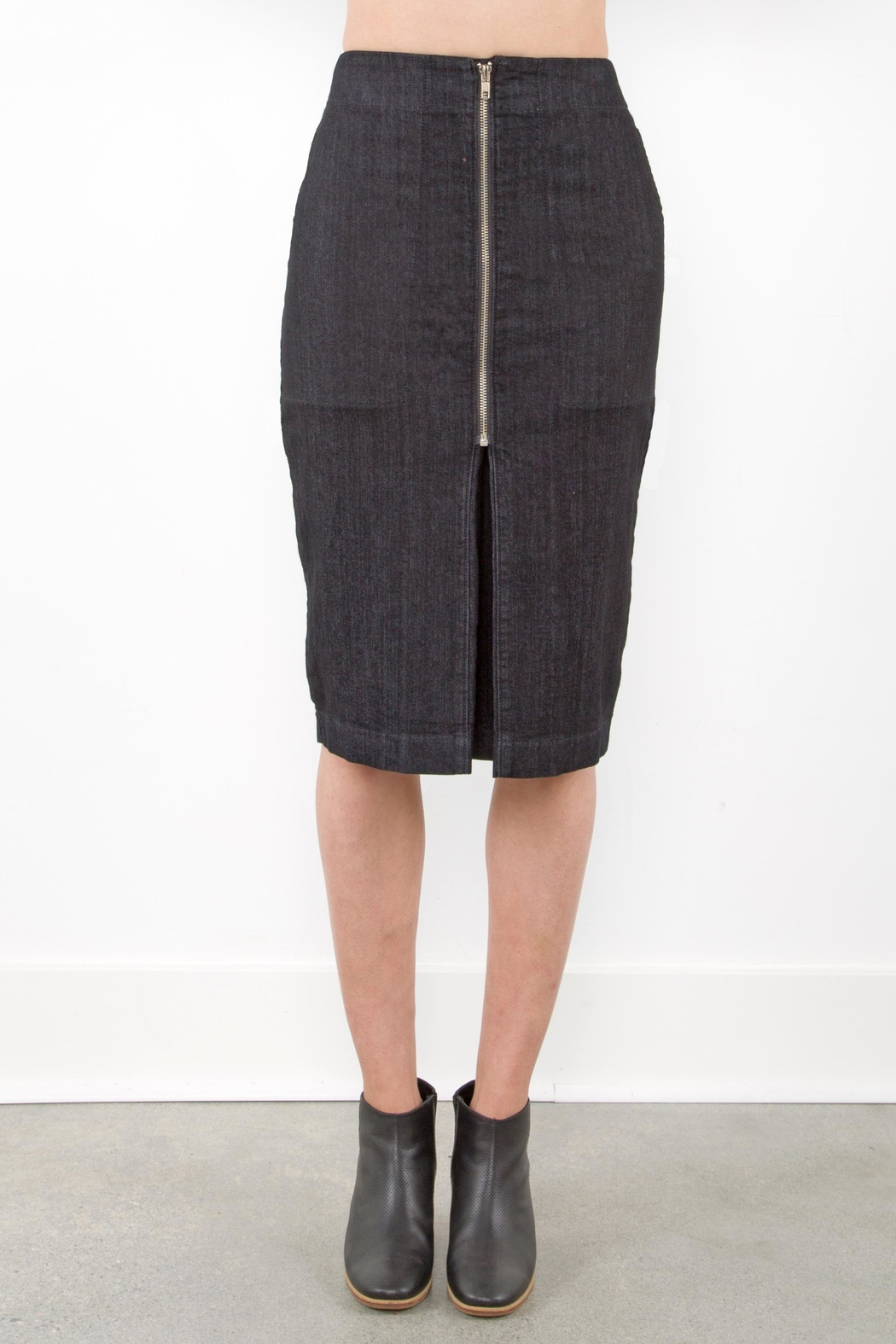 Prairie Underground Zip Pleat Skirt - Side Cropped Image