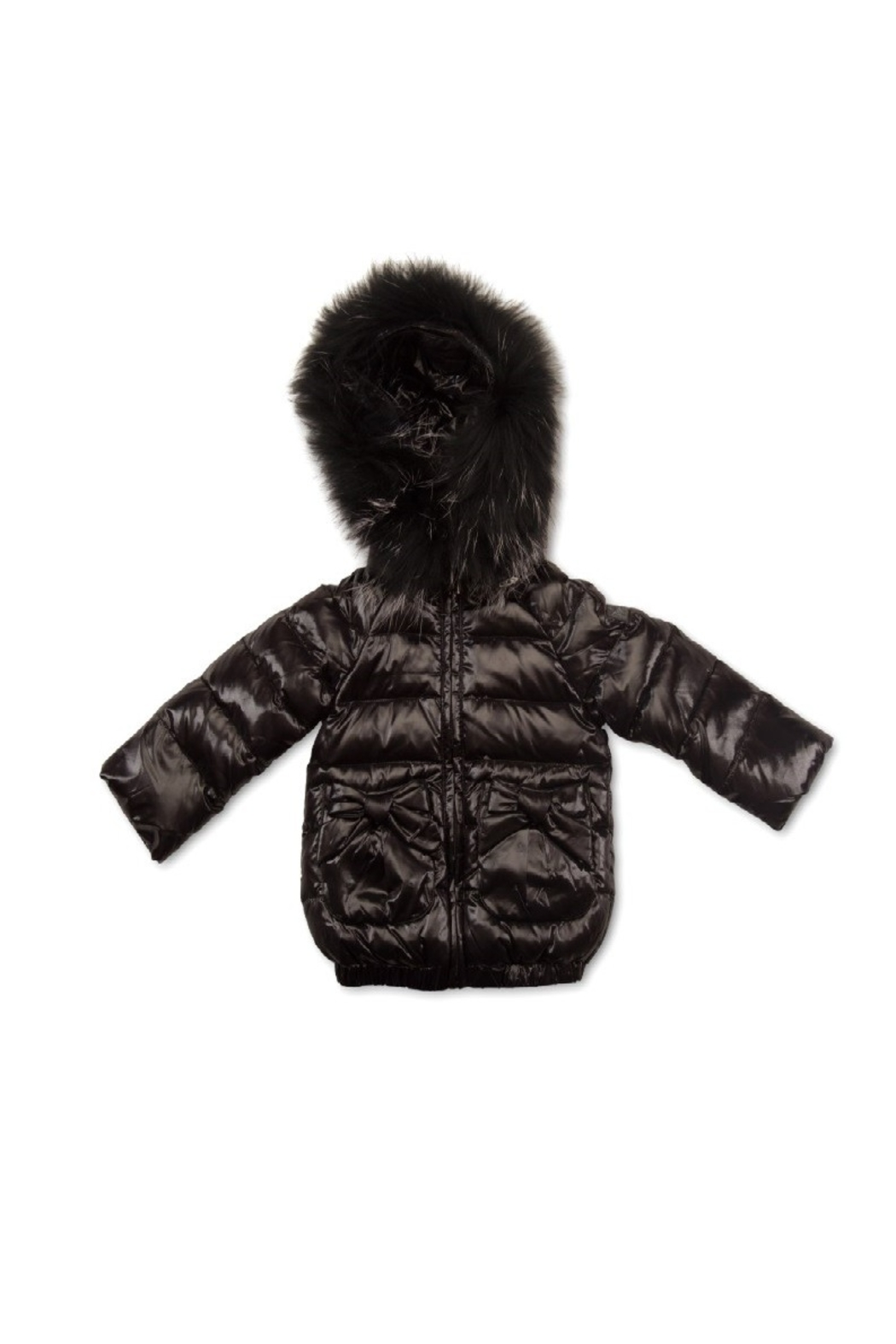 PRAMIE Pramie Down Filled Jacket with Bow Pockets for Girls | Winterwear Clothes - Main Image