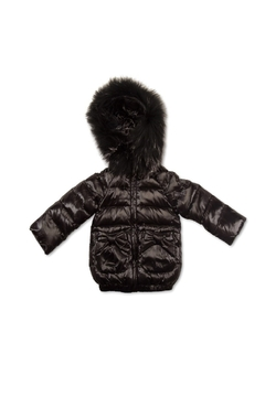 Shoptiques Product: Pramie Down Filled Jacket with Bow Pockets for Girls | Winterwear Clothes