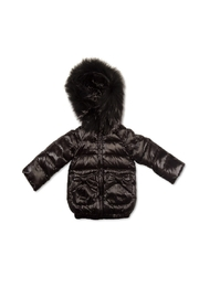 PRAMIE Pramie Down Filled Jacket with Bow Pockets for Girls | Winterwear Clothes - Product Mini Image