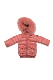 PRAMIE Pramie Down Filled Jacket with Bow Pockets for Girls | Winterwear Clothes - Front cropped
