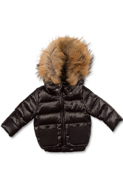 Shoptiques Product: Pramie Down Filled Jacket with Detachable Fur Trim Hood for Boys | Winterwear Clothes (6-14 years)