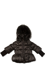 PRAMIE Pramie Down Filled Pouf Jacket with Detachable Fur for Girls | Winterwear Clothes - Product Mini Image