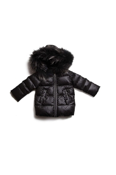 Shoptiques Product: PRAMIE GIRLS HOODED FUR DOWN COAT