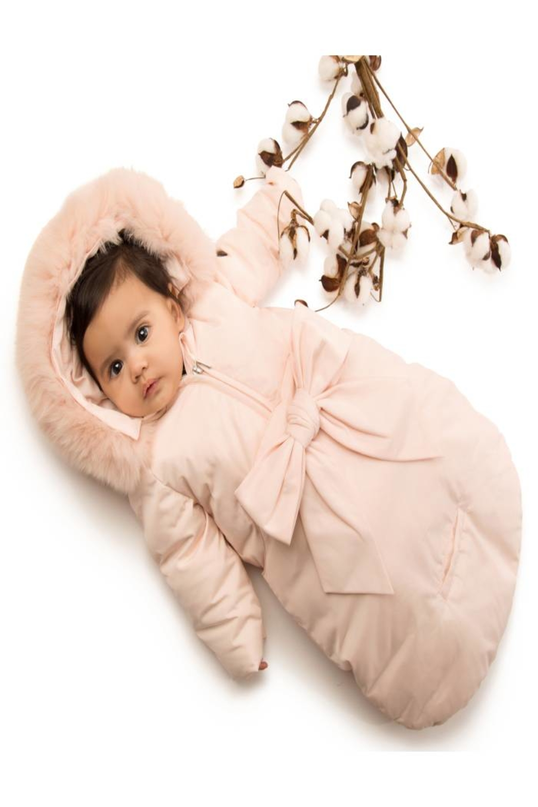 PRAMIE Pramie infant down Snow Suit Sack for Newborn Baby Girls And Boys Puffer Pram bag Snowsuit - Front Full Image