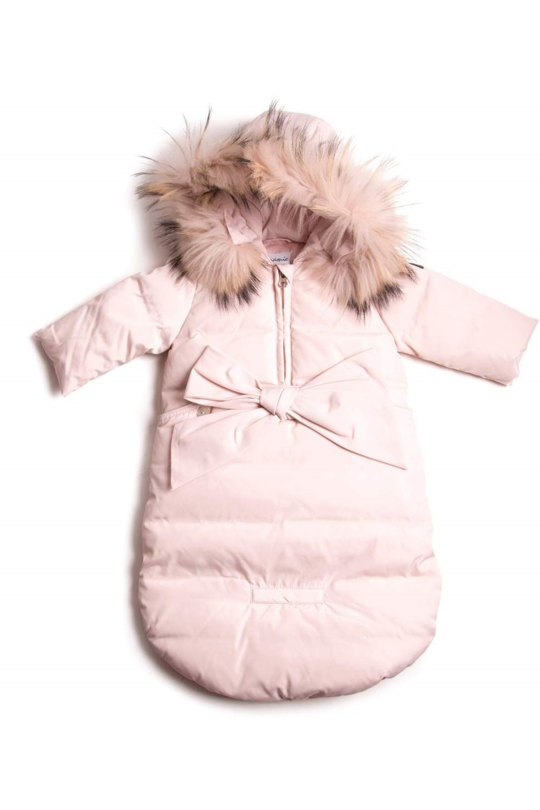 PRAMIE Pramie infant down Snow Suit Sack for Newborn Baby Girls And Boys Puffer Pram bag Snowsuit - Front Cropped Image