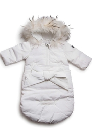 PRAMIE INFANT DOWN SNOW SUIT SACK - Girls and Boys Newborn Infant Baby Puffer Pram Bag Snowsuit Bunting - Front cropped