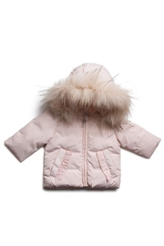 PRAMIE PINK DOWN BABY JACKET - Front cropped