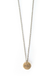 The Vintage Sparrow Pray Metal Necklace - Product Mini Image