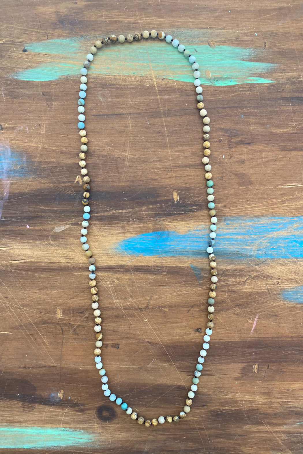 Kindred Mercantile  Precious Stone Beaded Necklace - Front Cropped Image