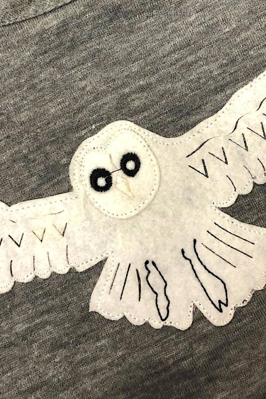 Precious Few on Earth Gray Owl T-Shirt - Front Full Image