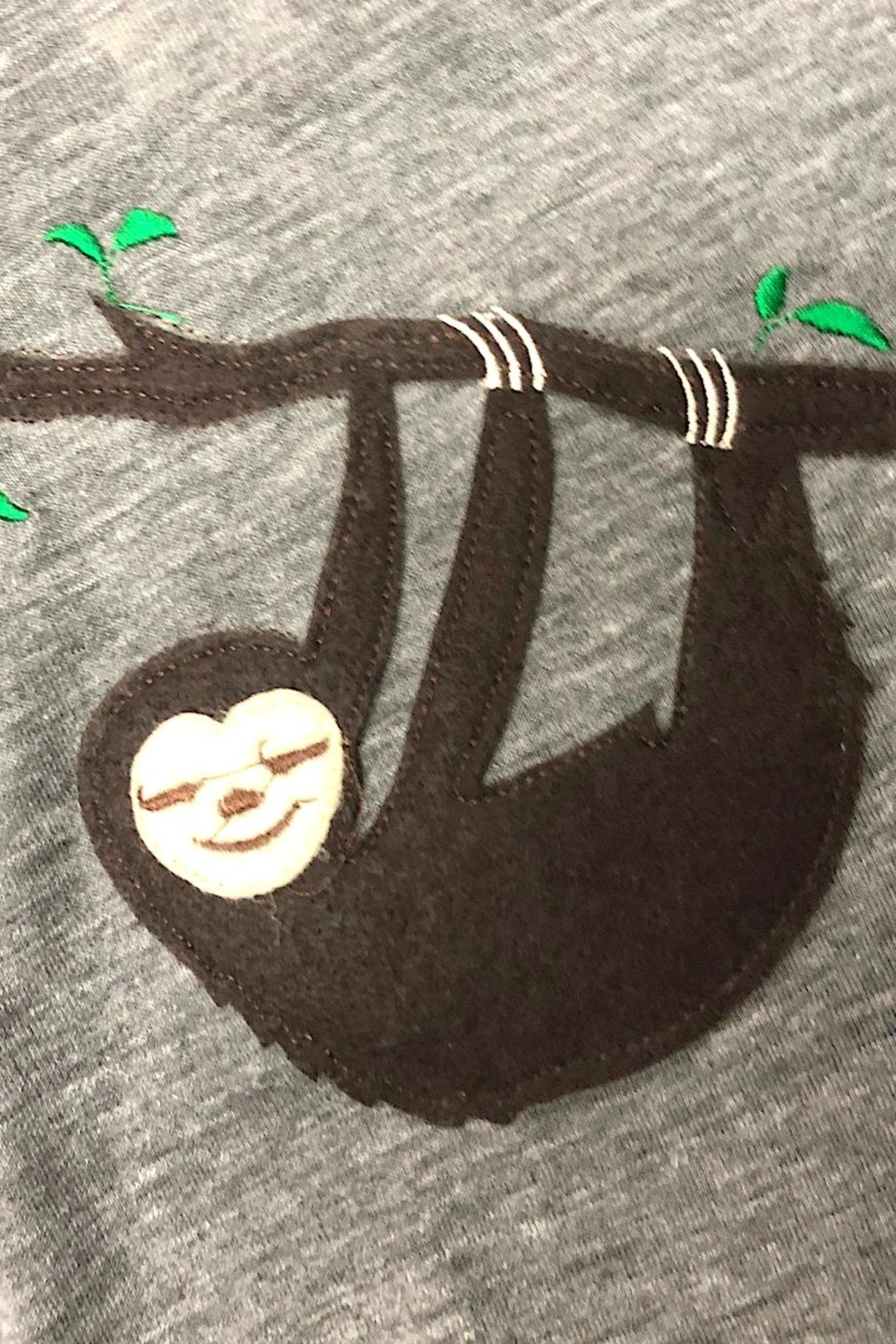 Precious Few on Earth Gray Sloth T-Shirt - Front Full Image