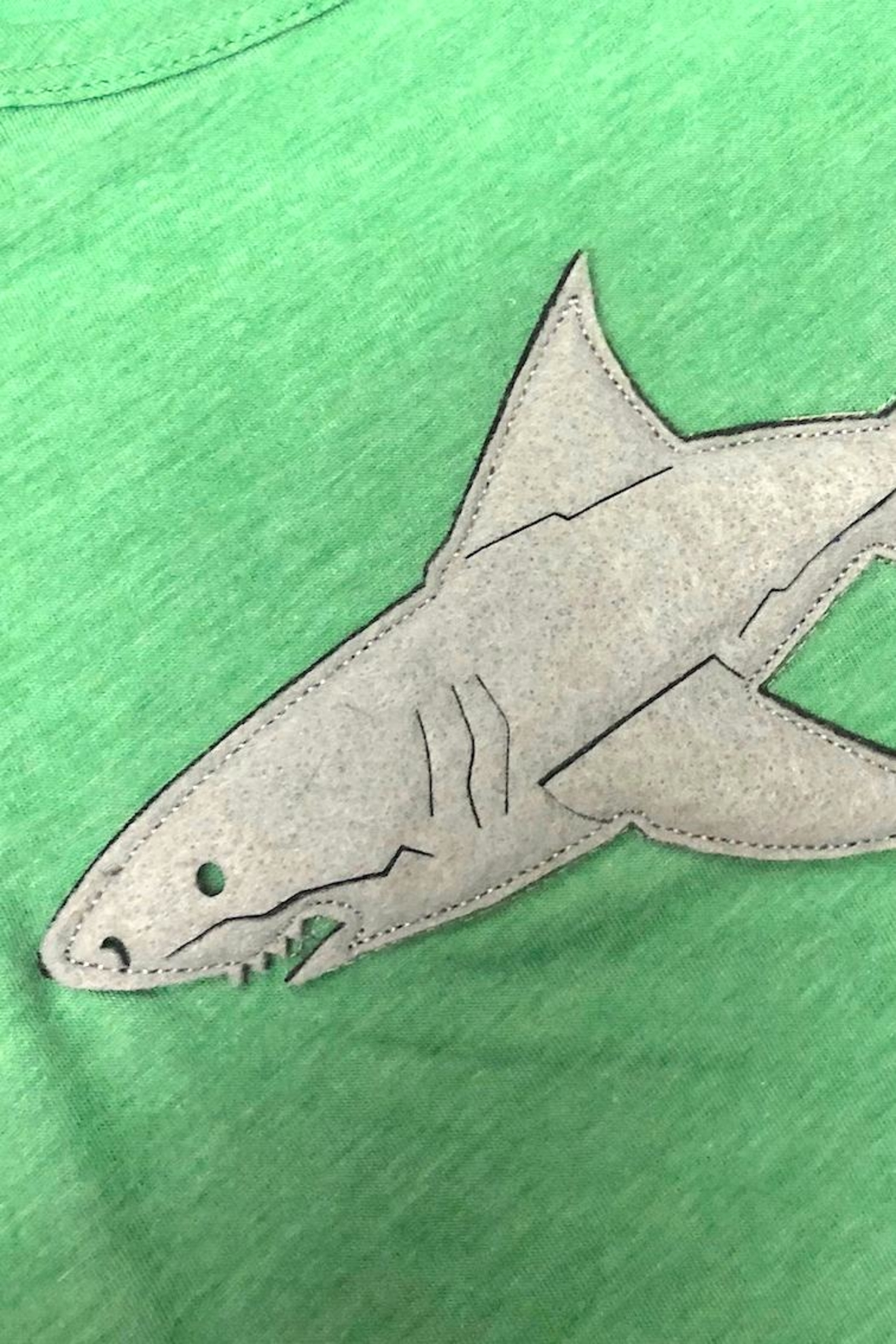 Precious Few on Earth Green Shark T-Shirt - Front Full Image