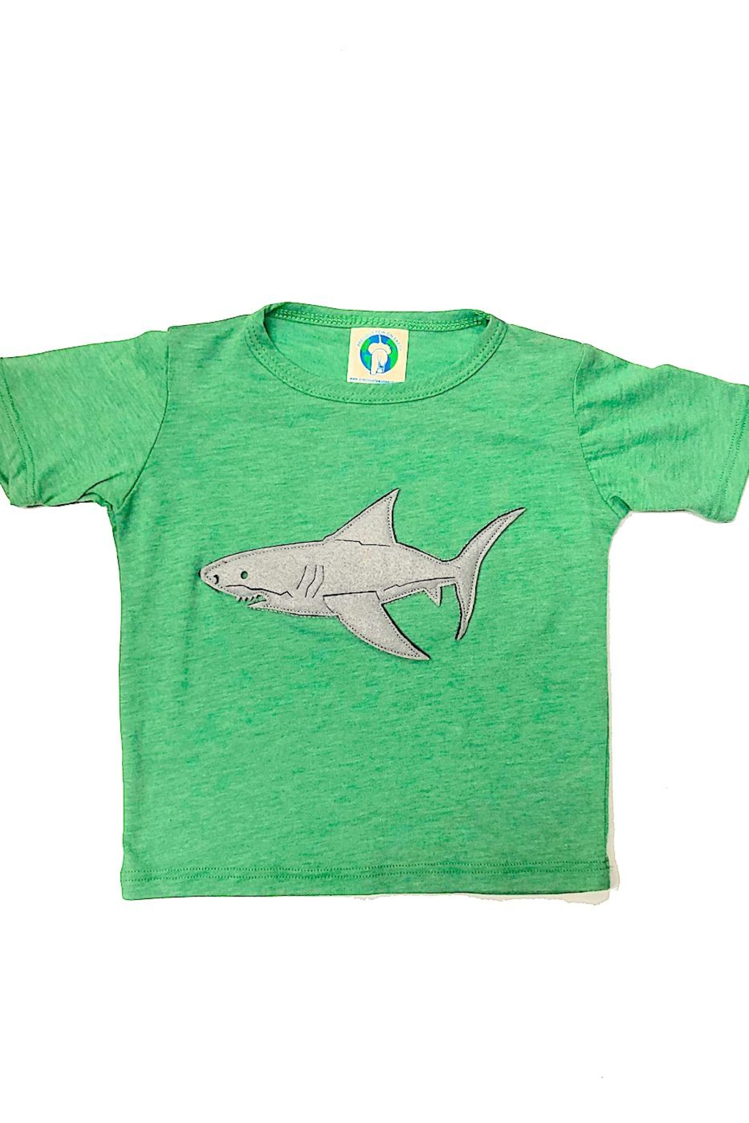 Precious Few on Earth Green Shark T-Shirt - Front Cropped Image