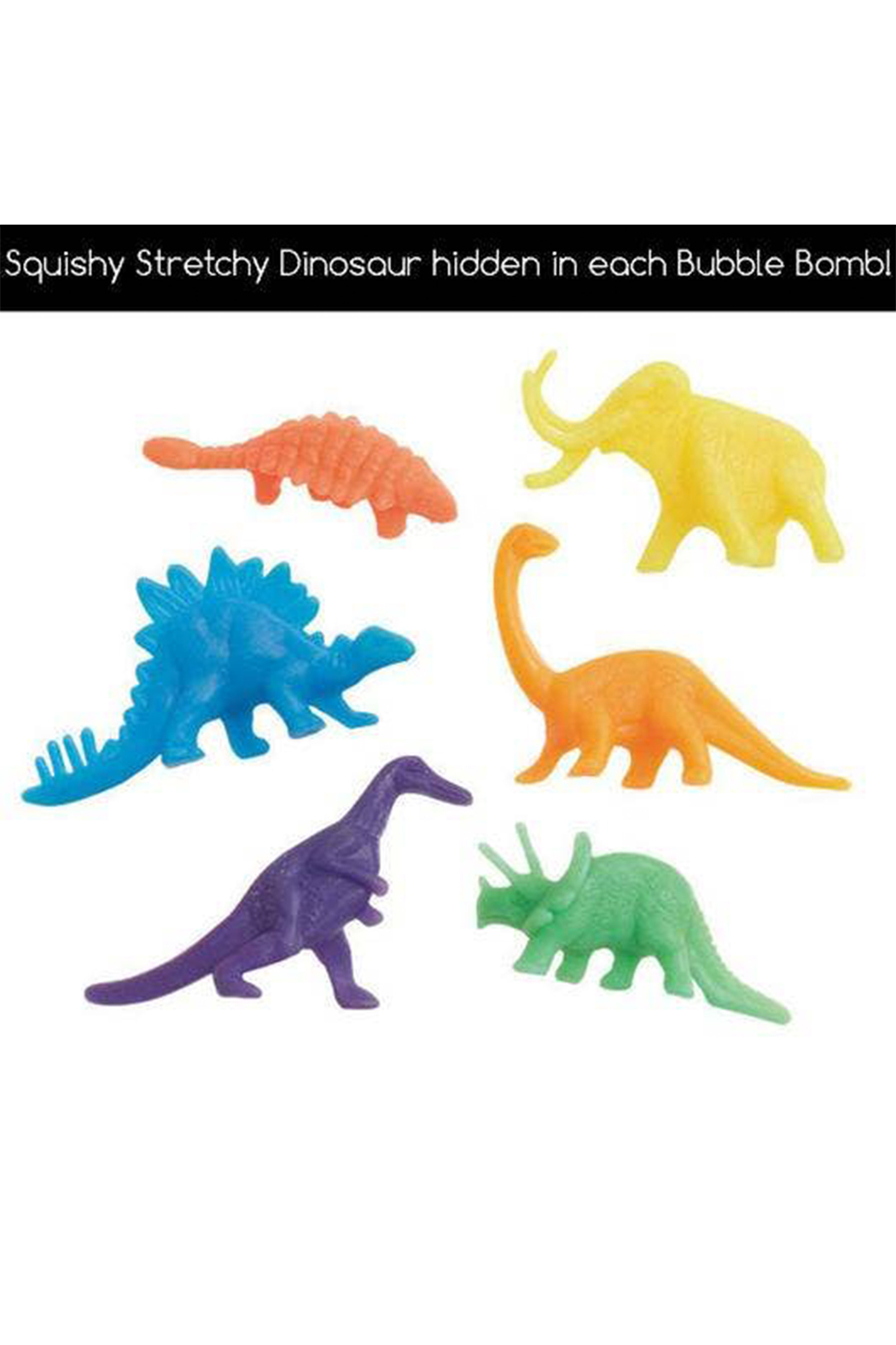 Two Sisters  Prehistoric Dinosaur Surprise Bubble Bath Bomb - Front Full Image