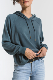 z supply Premium Fleece Dolman Hoodie - Front cropped