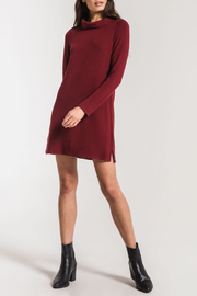z supply Premium Fleece Mock Neck Dress - Front cropped
