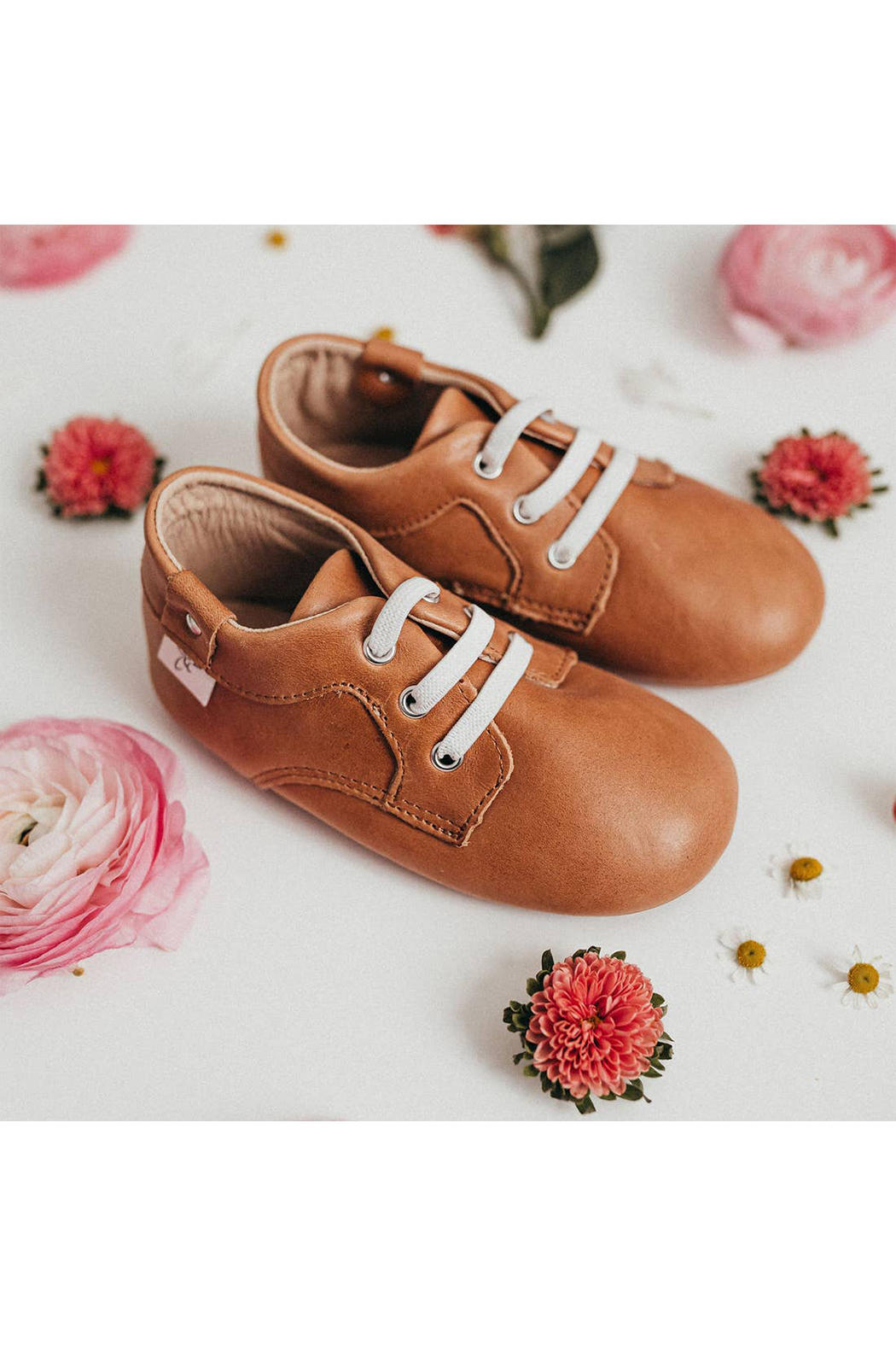 Little Love Bug Company Premium Leather Lace Oxford - Front Full Image