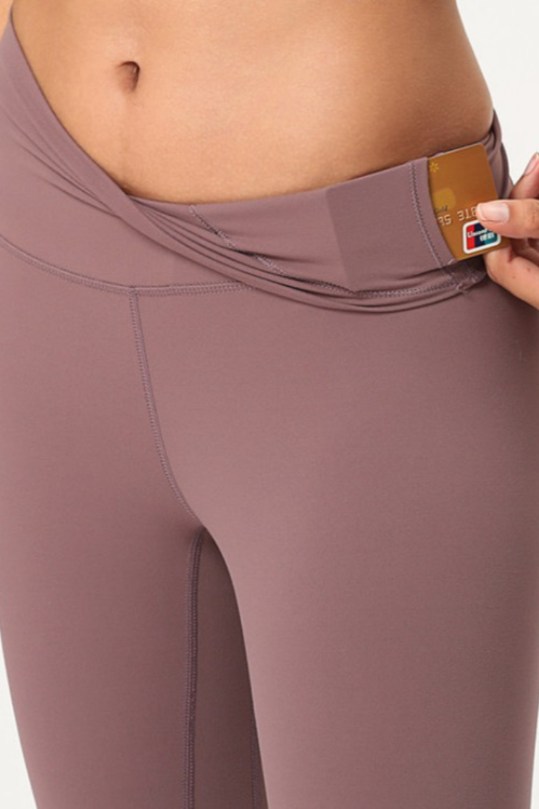 THE FREE YOGA Premium High Waisted Leggings - Side Cropped Image