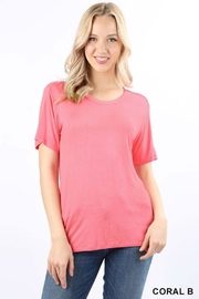 Zenana Outfitters Premium Scoop Top - Product Mini Image