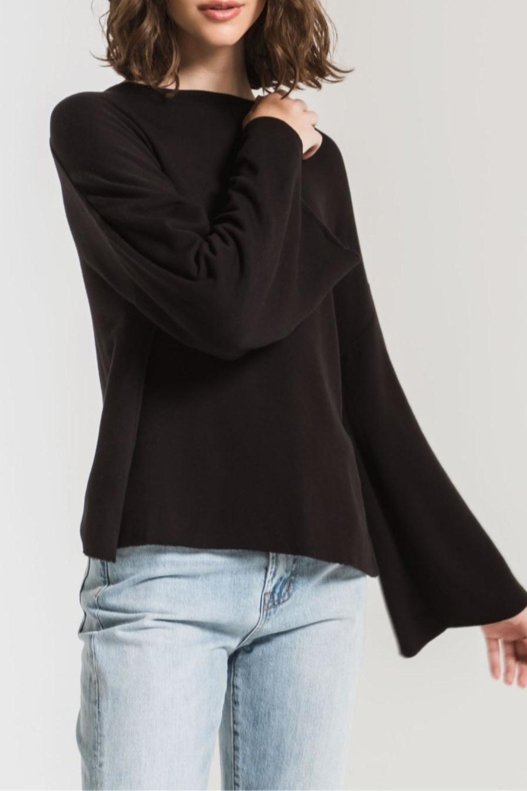 z supply Premo Fleece Flare - Front Cropped Image