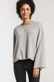 z supply Premo Fleece Flare Sleeve Top - Product Mini Image