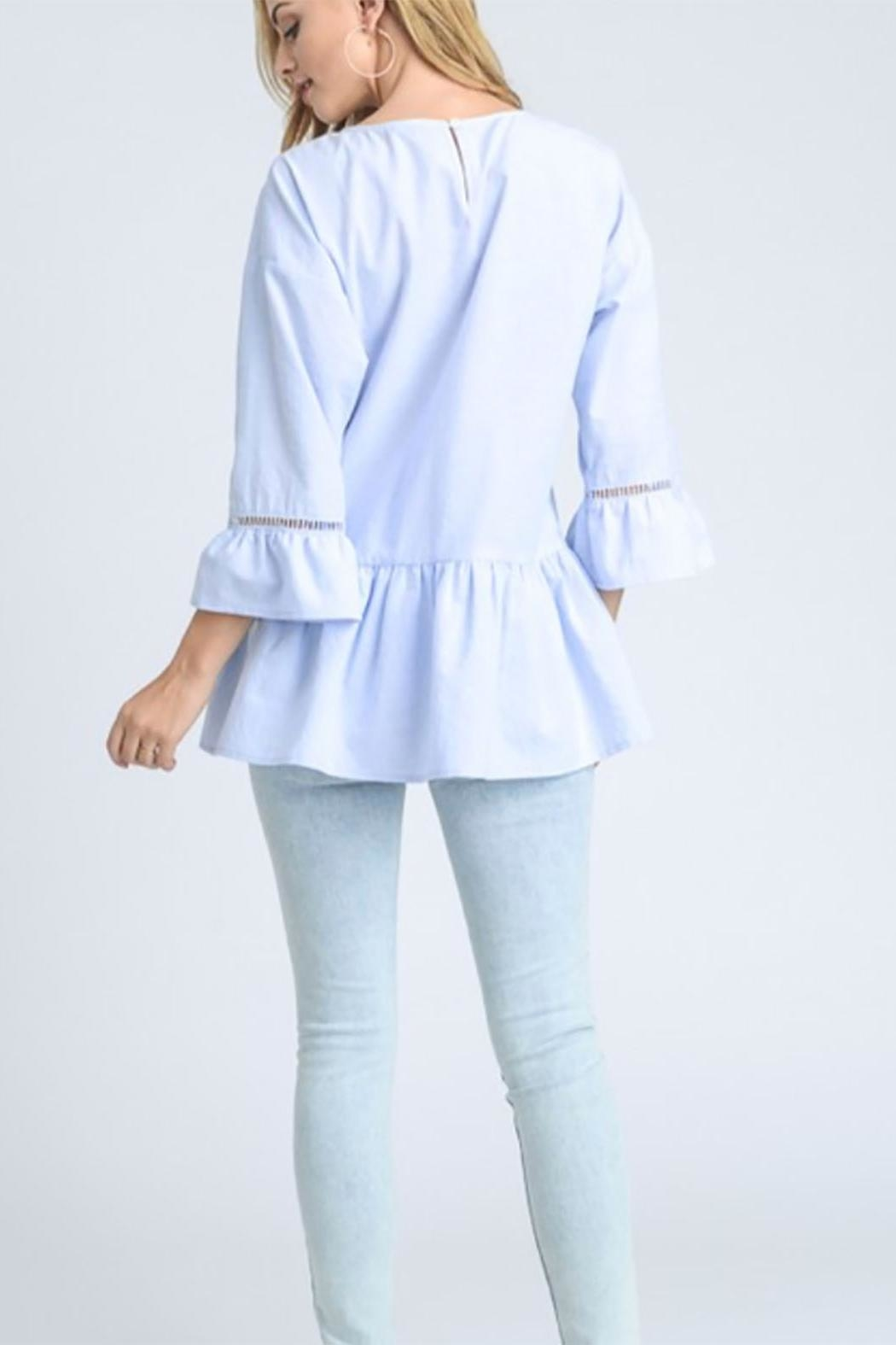 Doe & Rae Embroidery Tunic Top - Front Full Image