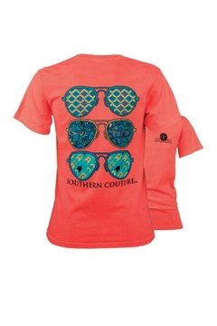Southern Couture Preppy-Aviator-Sunglasses Youth Tee-Shirt - Alternate List Image