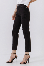 Endless Rose Presley Destroyed Jeans - Product Mini Image