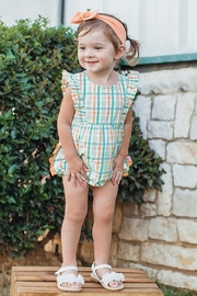 Ruffle Butts Presley Plaid Waterfall Bubble - Side cropped