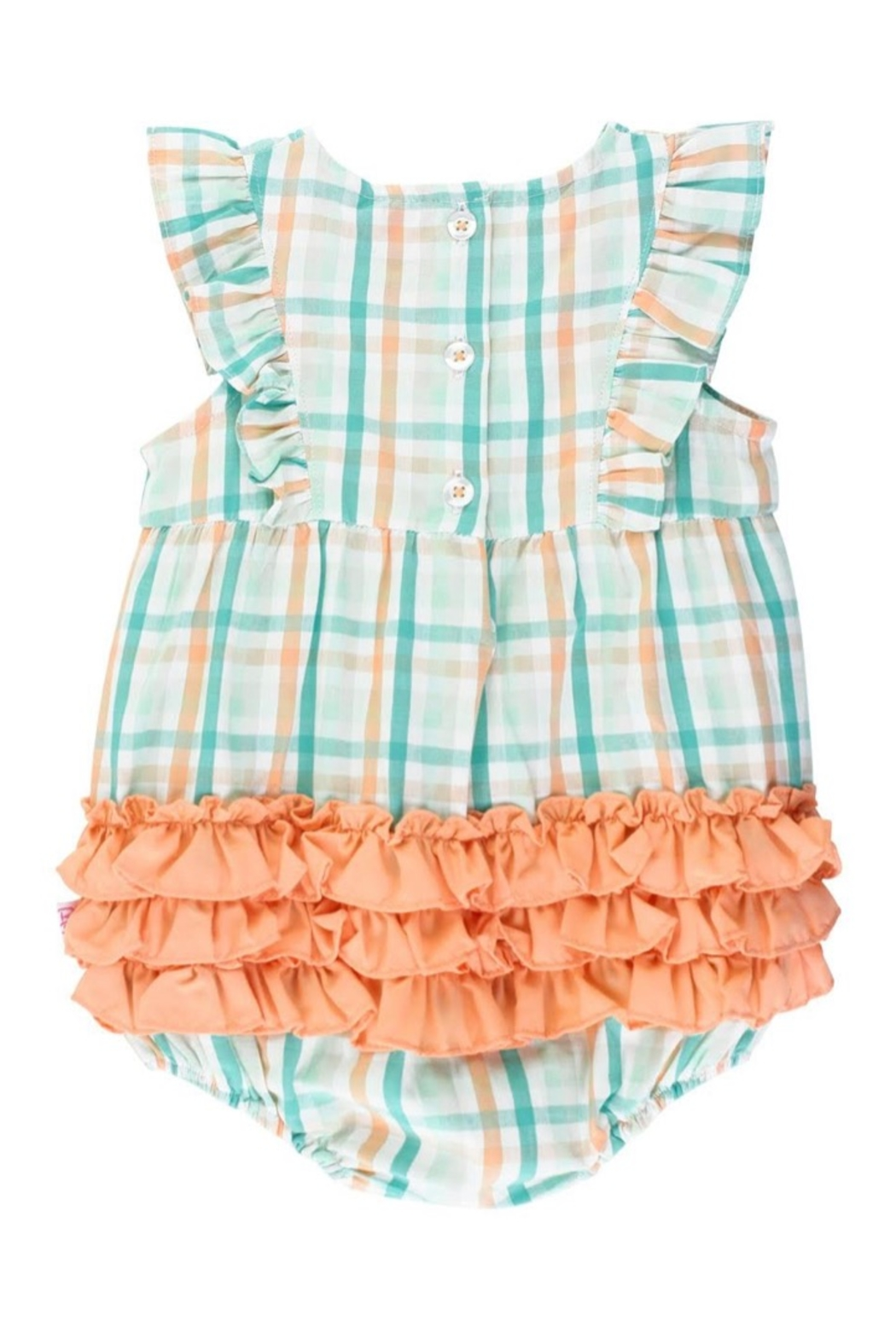 Ruffle Butts Presley Plaid Waterfall Bubble - Front Full Image