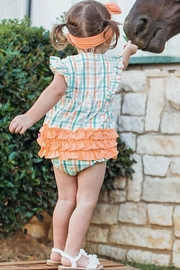 Ruffle Butts Presley Plaid Waterfall Bubble - Back cropped