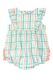 Ruffle Butts Presley Plaid Waterfall Bubble - Front cropped