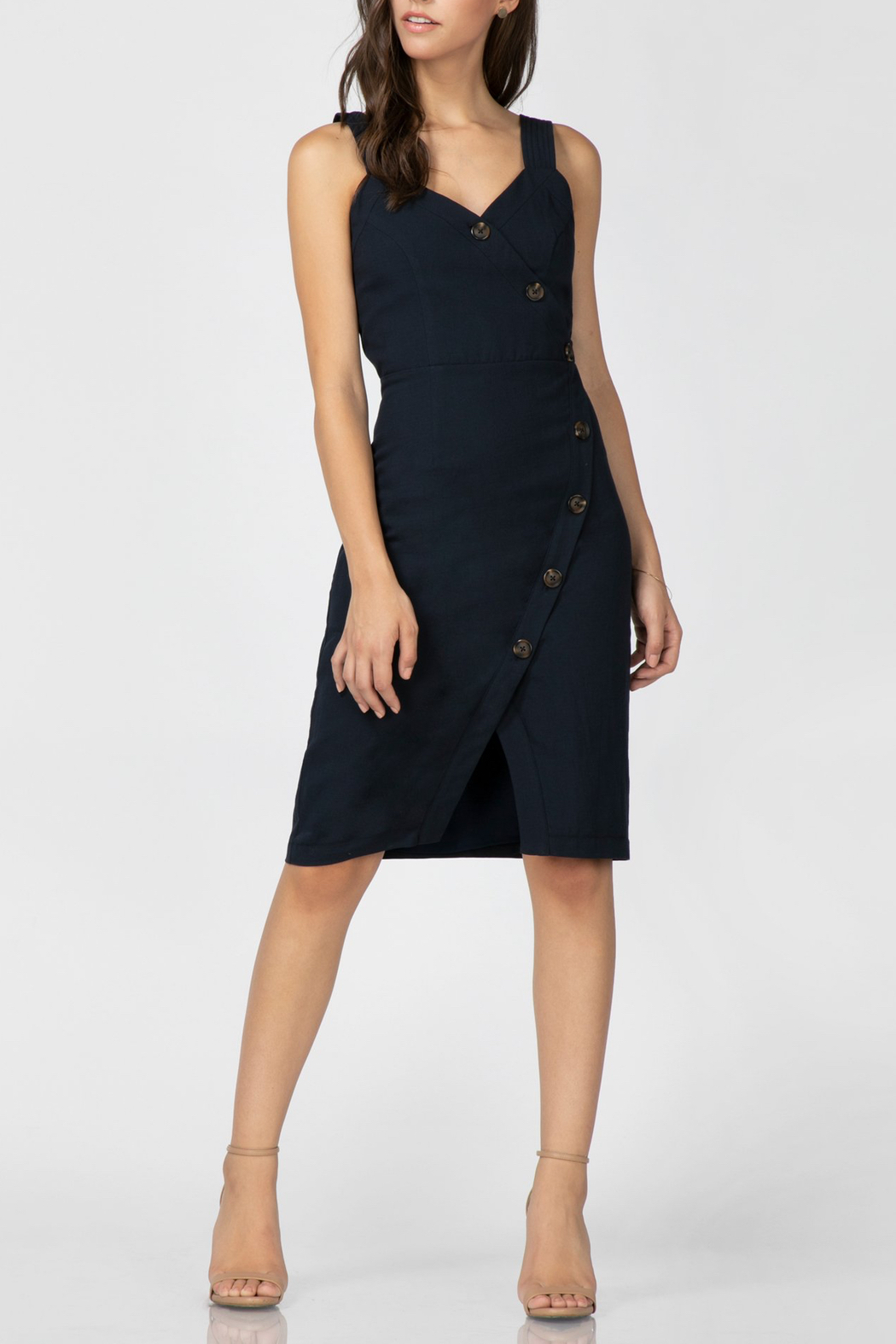 Adelyn Rae Presley Wrap Dress - Front Full Image