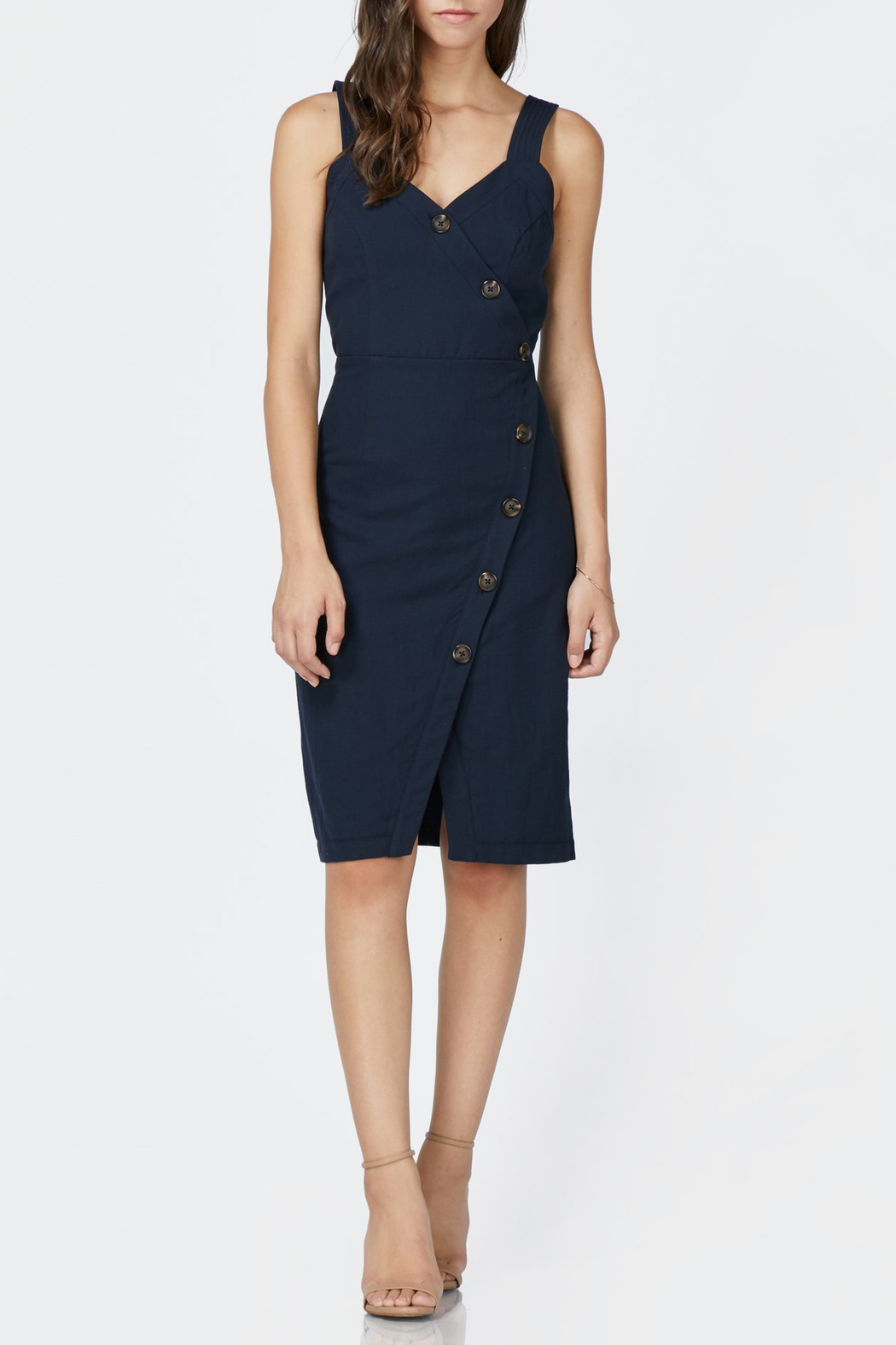 Adelyn Rae Presley Wrap Dress - Front Cropped Image