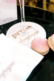 Lyn -Maree's Press for Champagne - Foil Coaster Set, Champagne Gift - Front full body