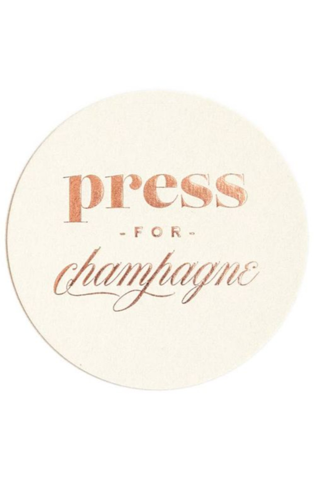 Lyn -Maree's Press for Champagne - Foil Coaster Set, Champagne Gift - Main Image