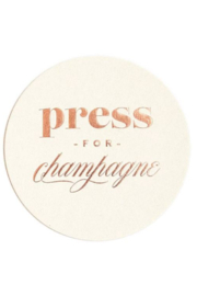 Lyn -Maree's Press for Champagne - Foil Coaster Set, Champagne Gift - Front cropped
