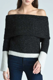 Press Off-The-Shoulder Sweater - Product Mini Image
