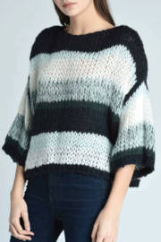 Press Oversized Stripe Sweater - Front cropped