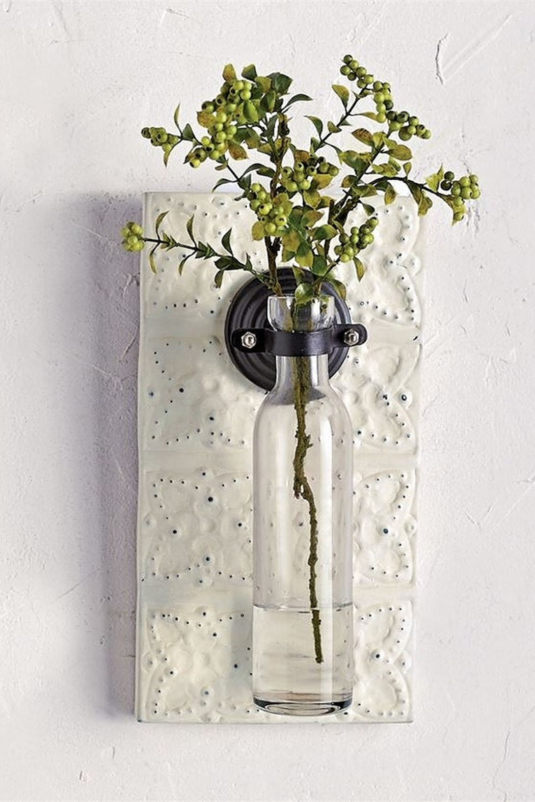 Mud Pie  Pressed Tin Wall Vase - Front Full Image