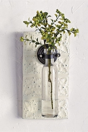 Mud Pie  Pressed Tin Wall Vase - Front full body