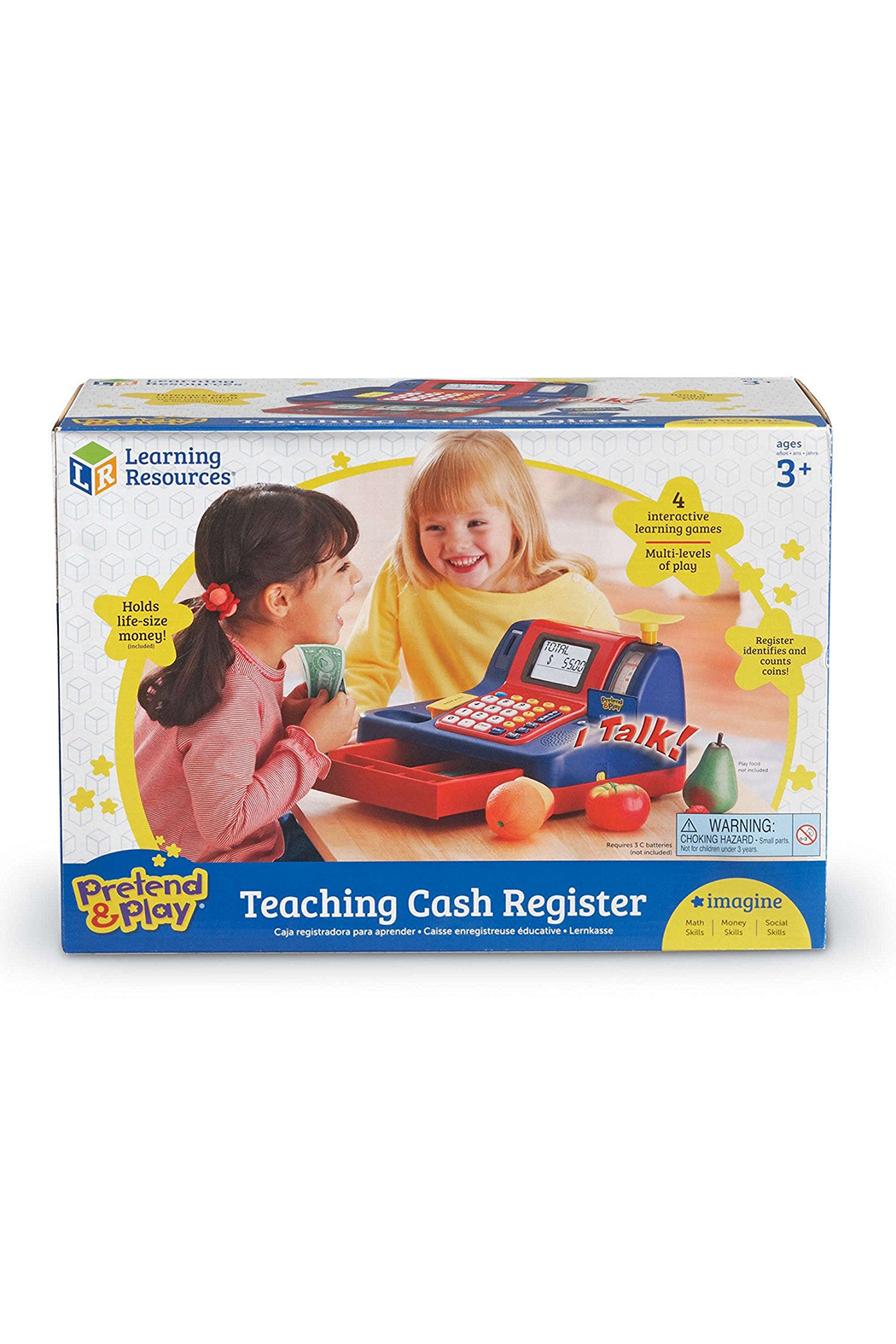 Learning Resources Pretend & Play Teaching Cash Register - Front Full Image