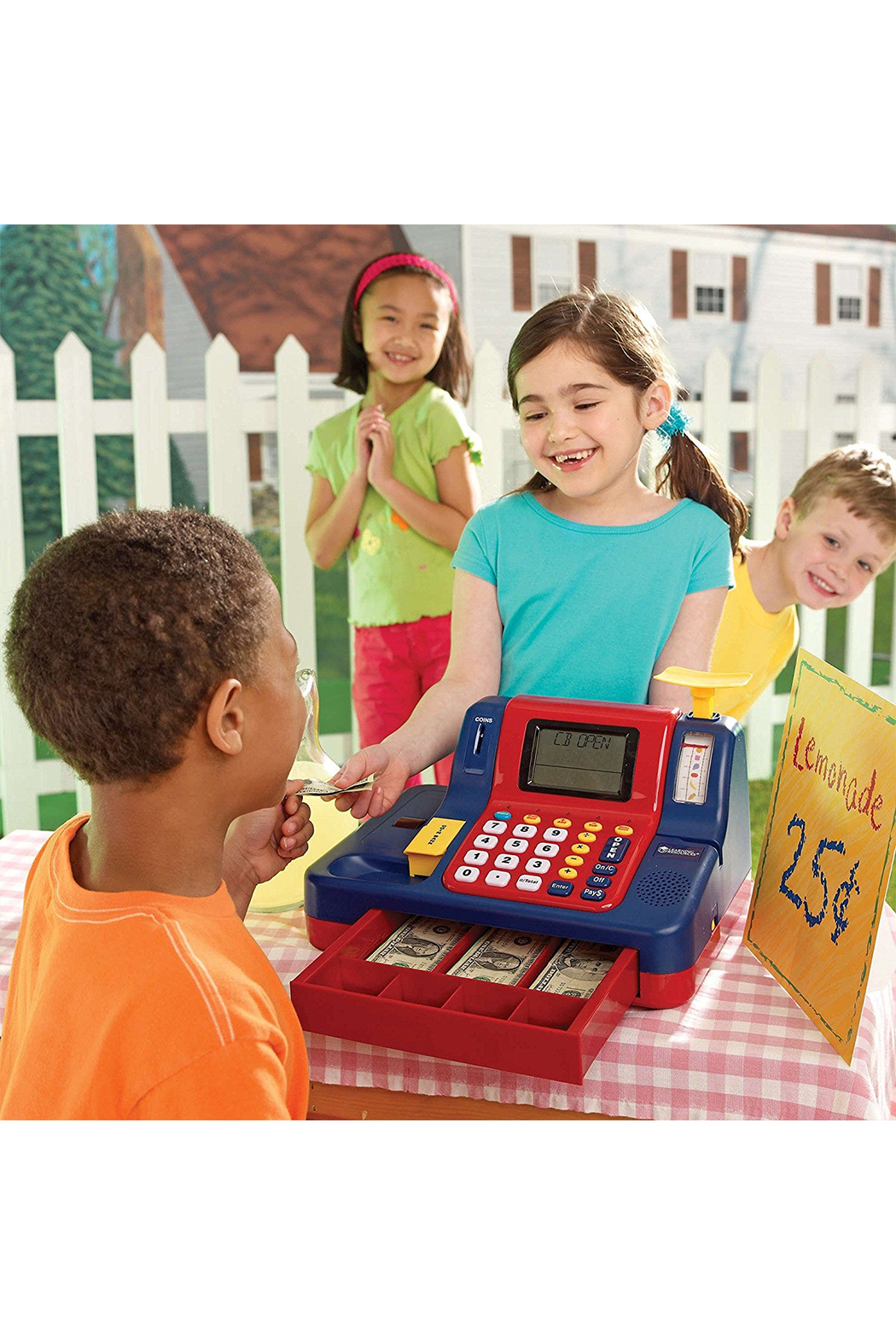 Learning Resources Pretend & Play Teaching Cash Register - Back Cropped Image