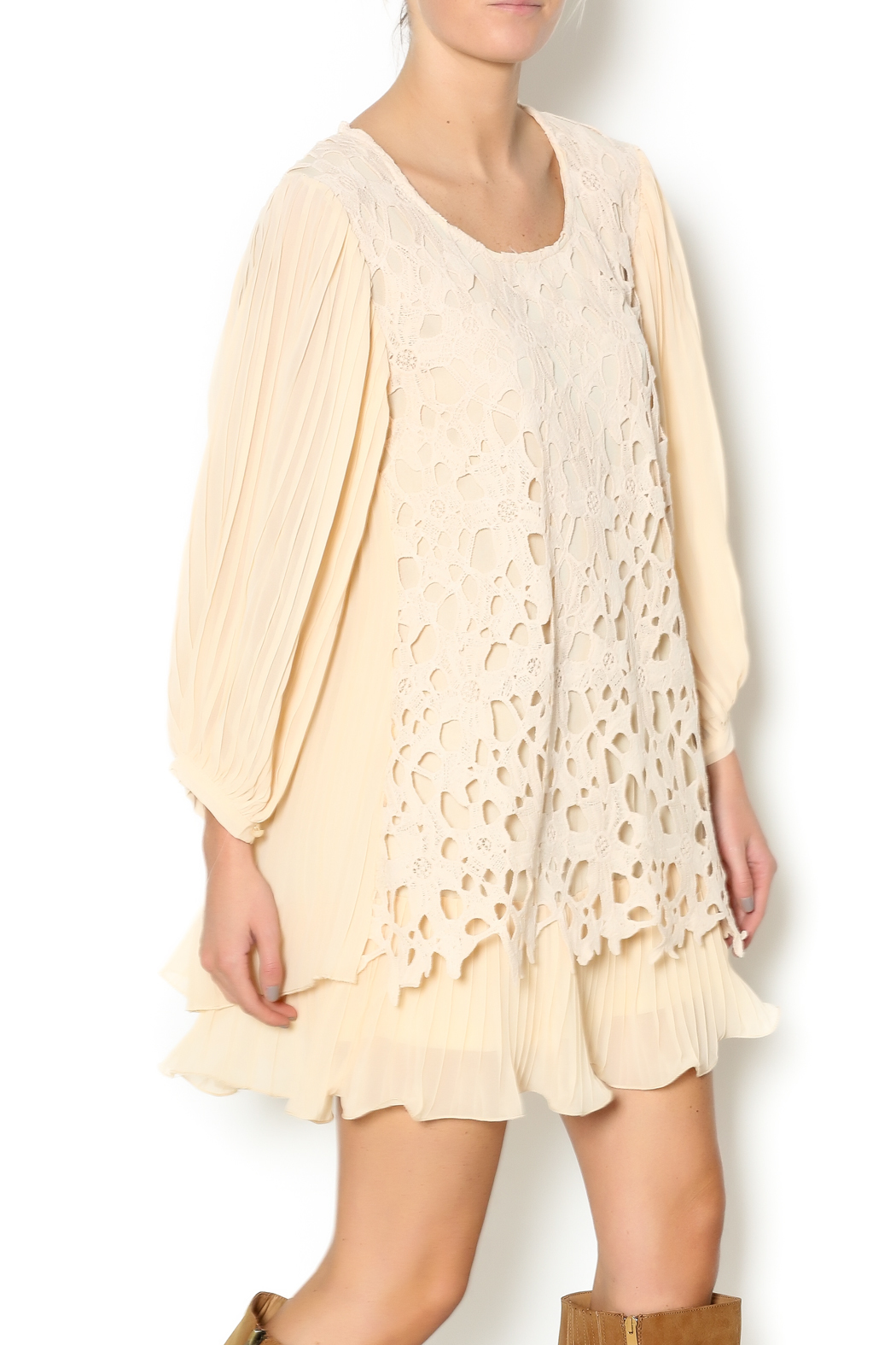 Pretty Angel Cream Lace Blouse from Alabama by The Right Dress ...