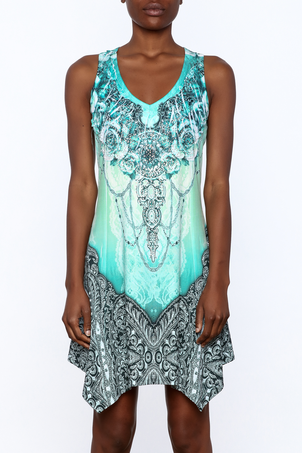 Pretty Angel Printed Bling Dress - Side Cropped Image