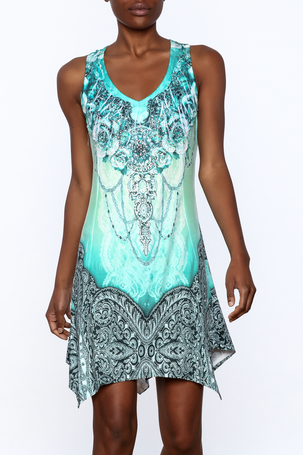Pretty Angel Printed Bling Dress - Main Image
