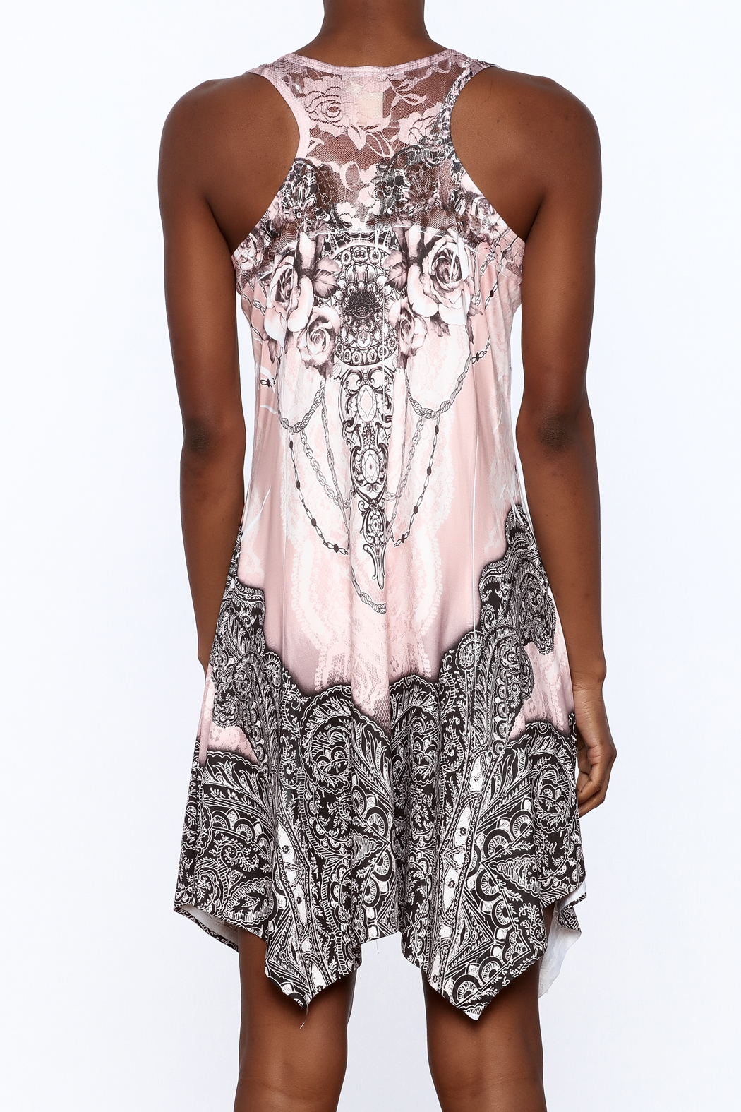 Pretty Angel Printed Bling Dress - Back Cropped Image