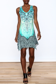 Pretty Angel Printed Bling Dress - Front full body
